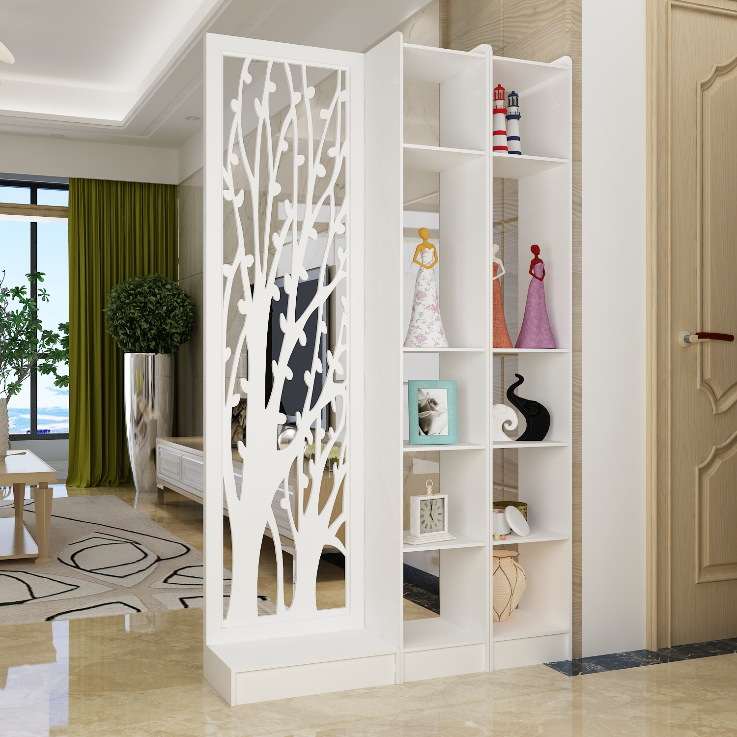 Fortune tree simple modern bedroom screen screen partition porch ...