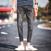 Summer thin section stretch hole nine points jeans Korean version of the trend of Slim pants men's casual Harlan pants