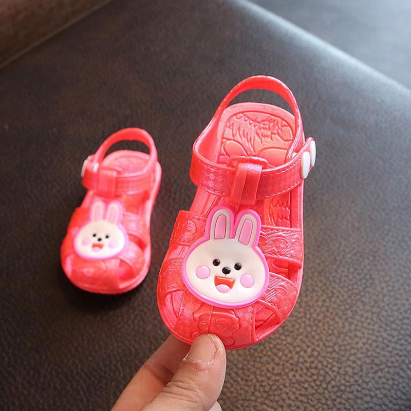 新款儿童凉鞋包头男童女童夏季防滑软底透气宝宝1-3岁学步鞋塑料
