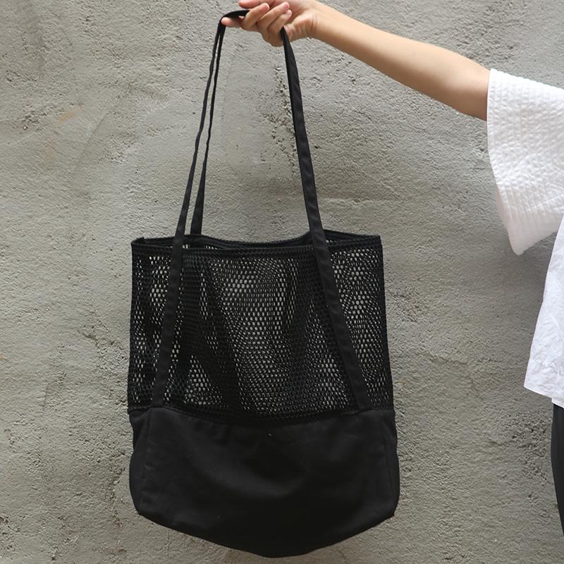 HM COS mesh cut casual versatile shoulder bag Tote canvas beach ...