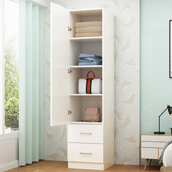 Simple and modern single-door wardrobe Children's wardrobe simple wooden wardrobe narrow balcony cabinet storage cabinets lockers