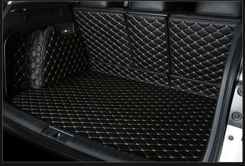 Auto Cargo Liner Car Trunk Mats For Audi Q5 2010-2017 Surrounded by all Carpets High Quality Embroidery Leather Mats