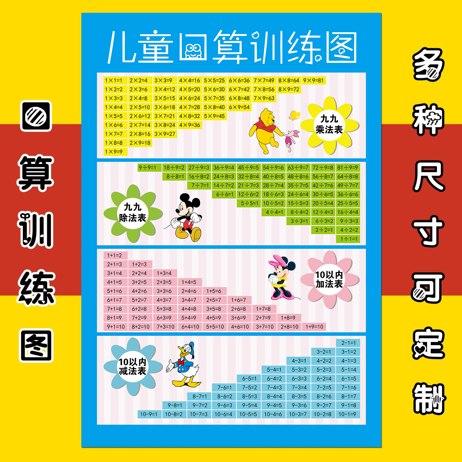 Usd schoolboy 99 multiplication table for children for Multiplication table to 99