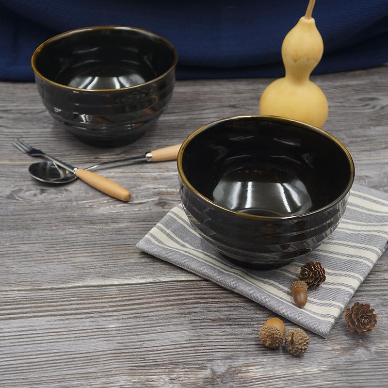 拉面碗土陶泡面碗汤面碗日式家用