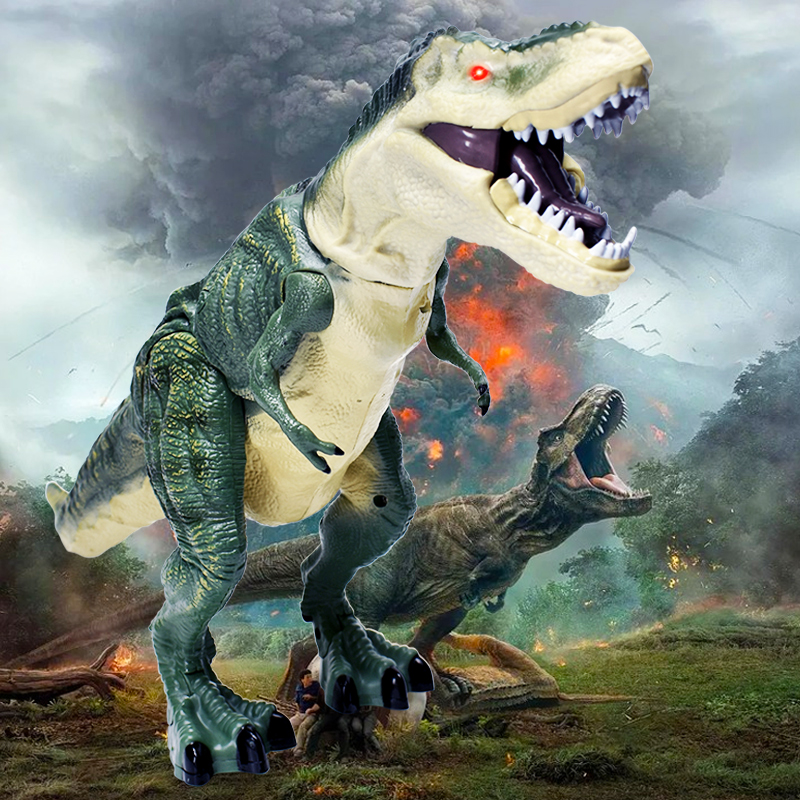 Electronic Toys Hearty New Product Boy Love Dinosaur With 7 Head Childrentoys Simulation Model Electric Plastic Big Dinosaur Model Toy