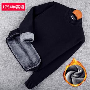 Утолщённый с дополнительным слоем пуха водолазка свитер мужчина зимний сохраняющий тепло шерстяной одежда среди воротников мужской свитер пальто корейская волна струиться, цена 888 руб