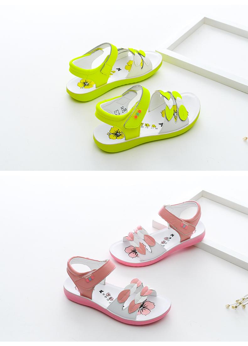 【安途森】2019新款夏牛皮女童凉鞋 12