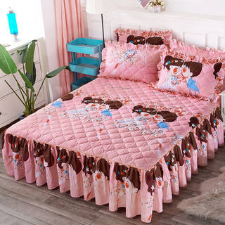 Thermal bed skirt set of three pieces single bed group bedspread bedspread bed cover Korean version of the princess wind