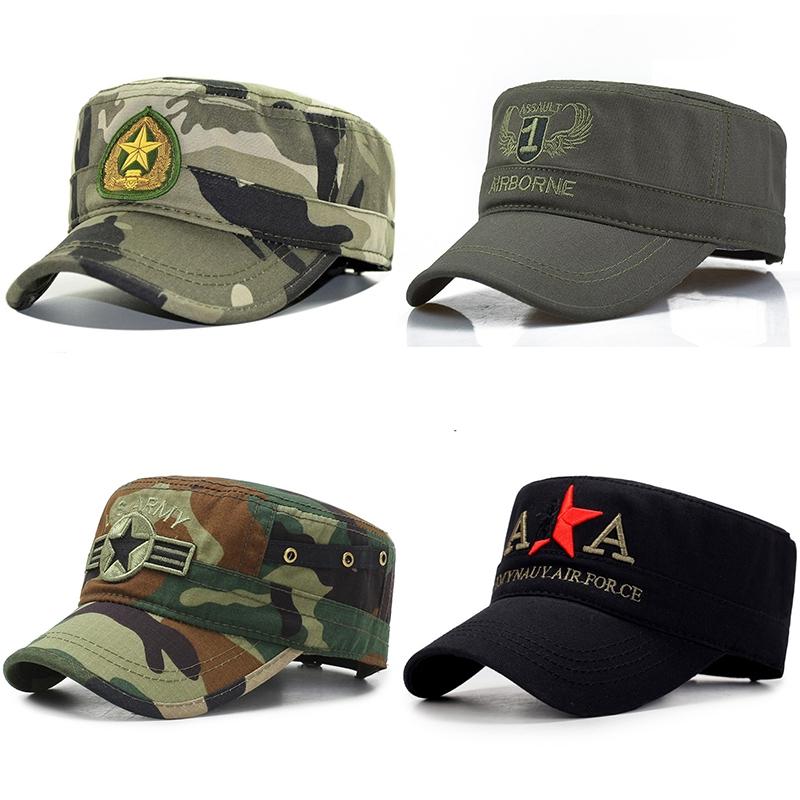 帽子男女五角星迷彩特种兵v帽子平顶军绿色个性军帽男军帽