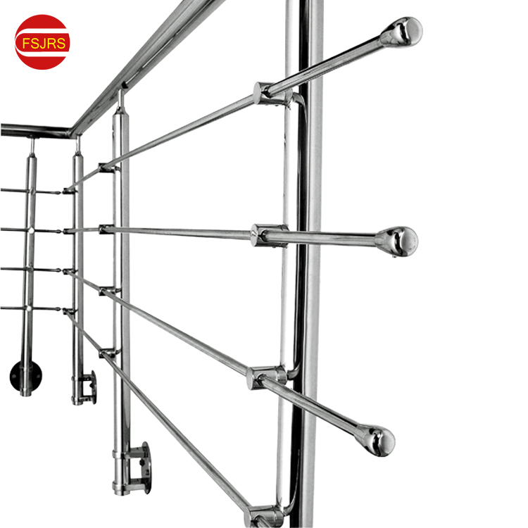 Stainless Steel Side Mounted Stair Railing Handrail Column Rotating Stairs Round Wear Brushed
