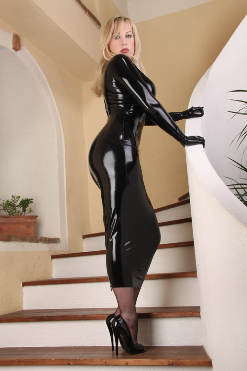Ls23unicolor Long Sleeves Leather Latex Rubber Catsuit One