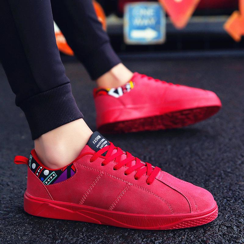 Новая весна мужской обувной корейская волна струиться студент мужской обувь досуг красные туфли дух общество может парень обувь