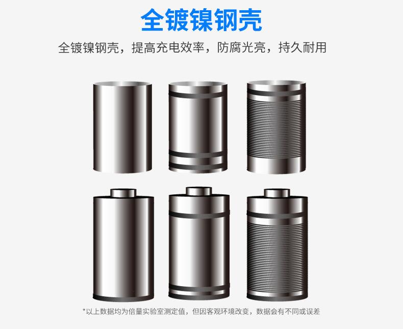 倍量五号可充电电池5号冲电电池玩具早教机鼠标镍氢1.2VAA4节装详情图