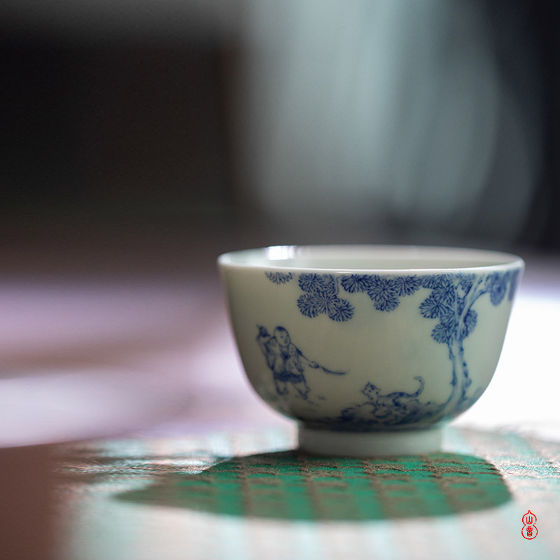 After the rain less romantic sample tea cup of jingdezhen ceramic teacups hand - made porcelain cup for tea service master