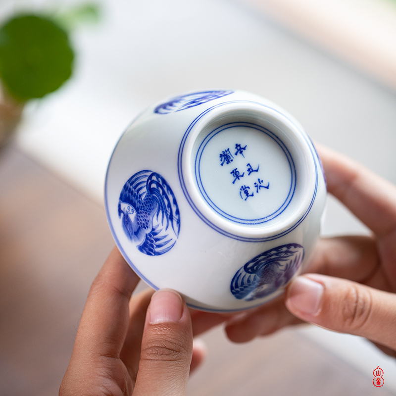 Ooze rings thatched cottage imitation the qing regiment chicken wsop cup of jingdezhen ceramic cups master cup hand - made porcelain sample tea cup
