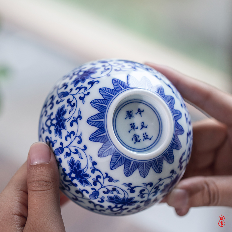 Ooze inside and outside rings thatched cottage imitation the qing bao phase lie fa cup of jingdezhen ceramic cups of individual special master CPU