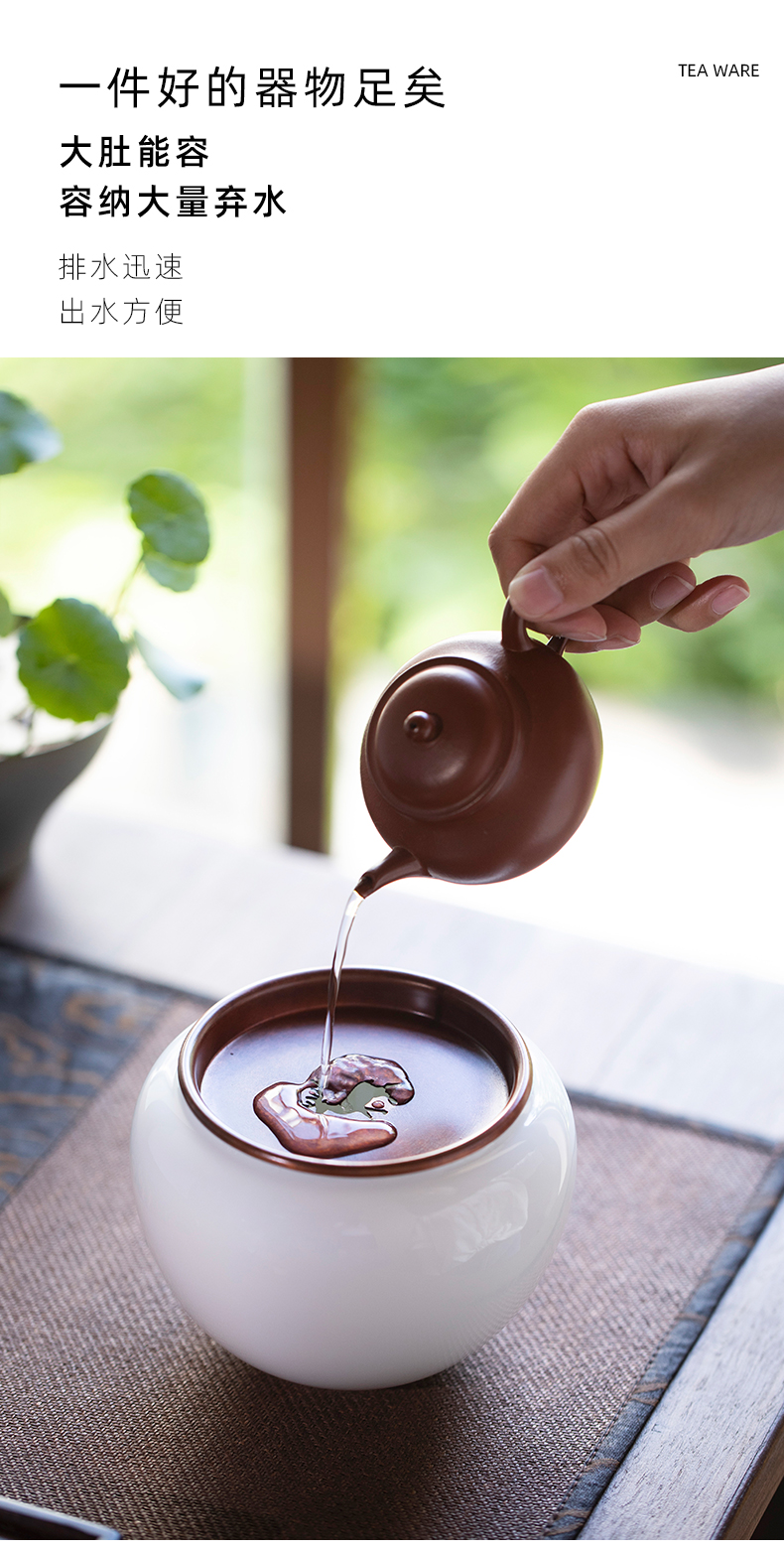 On a new LuLian premium dishes of jingdezhen checking ceramic building water dry mercifully hot water pot of tea tray bearing barrels