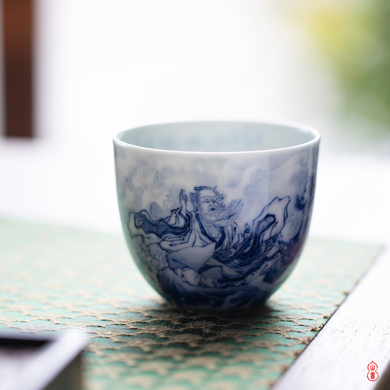 Yellow River xiao bamboo up talk straight koubei jingdezhen ceramic hand - made porcelain teacup personal special sample tea cup