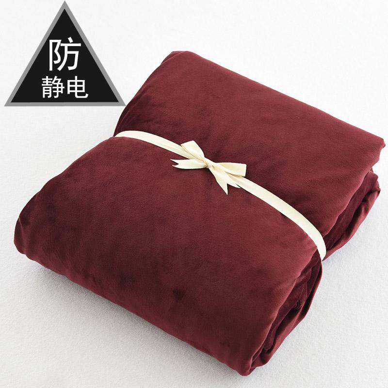 Pha lê nhung chống tĩnh điện nhung phong cách Nhật Bản mùa đông chống trượt cố định dày lên ấm áp nhung nhung giường đơn mảnh - Trang bị Covers