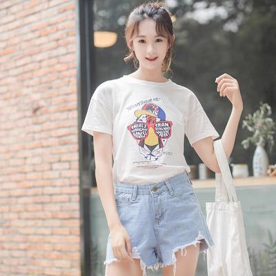 【朵涞娜】韩范百搭夏装小清新t恤
