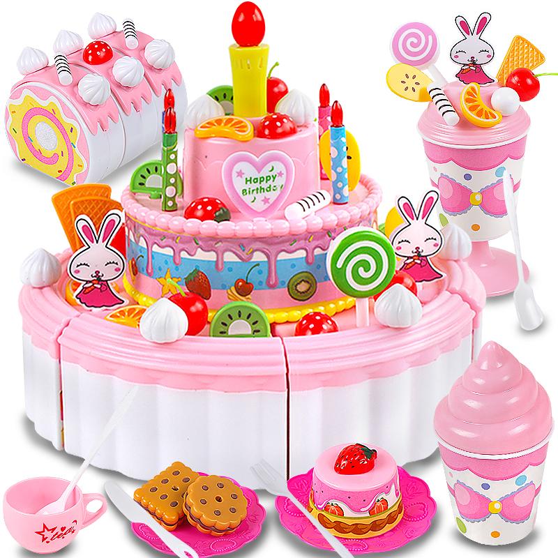 Childrens Cut Cake Toy Girl Music 3 5 7 9 Years Old Set Ice Cream Car 6 8 Birthday Gift