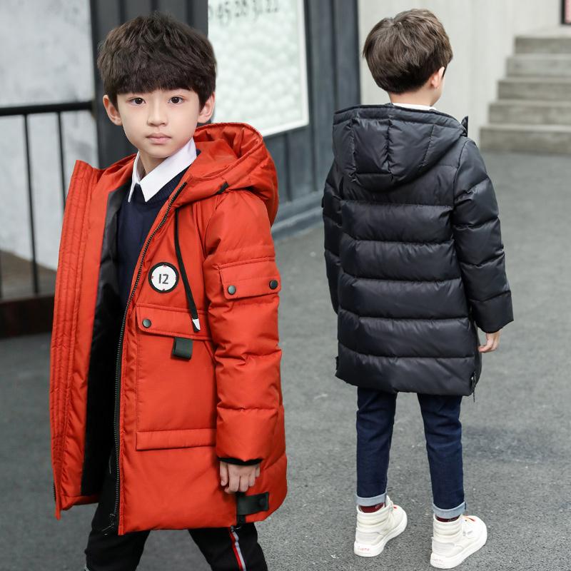 儿童中长款棉袄2018新款冬装