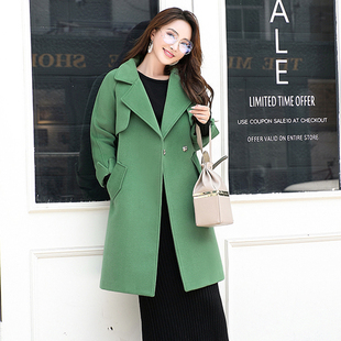 2019 new Korean version of loose fitting woolen coat