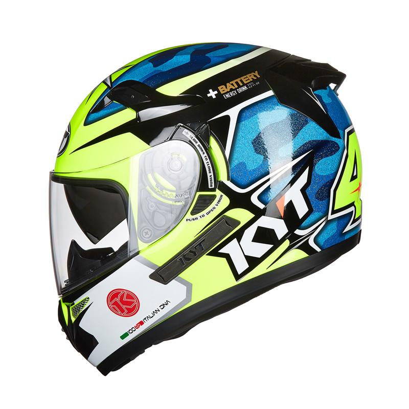 KYT K2摩托車頭盔GP賽道盔 雙鏡片騎行安全頭盔全盔機車頭盔