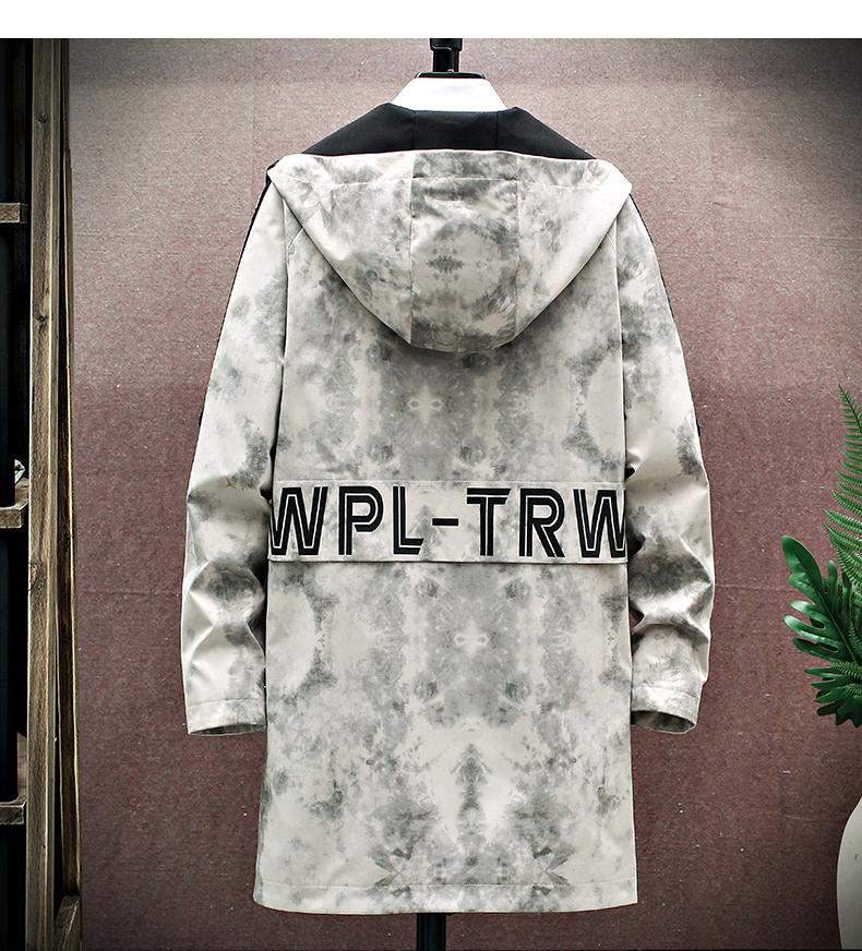 Medium-length windcoat jacket men's 2020 new teen Korean version trend plus velvet plus thick autumn and winter jacket top 51 Online shopping Bangladesh