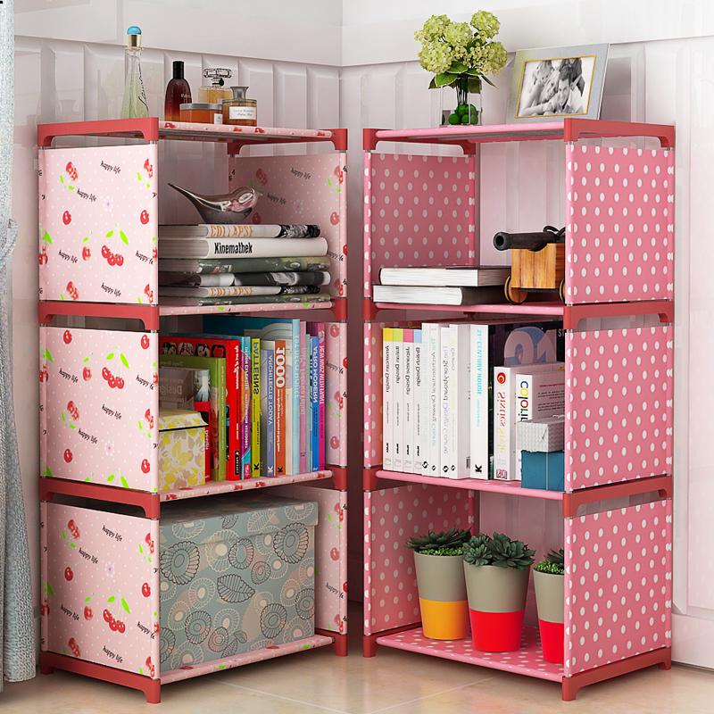 Простой столик для столовой полки верх Спальня для начальной школы, многофункциональный книжный шкаф, простой подарок поколение Место для хранения