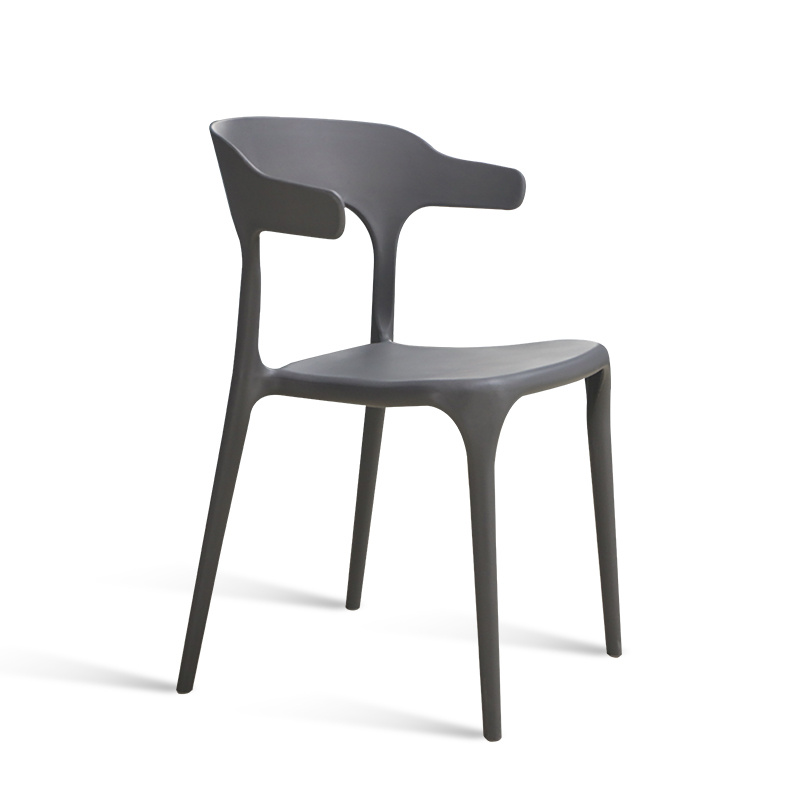 Modern Minimalist Plastic Dining Chair Adult Nordic Fashion Leisure Chair  Restaurant Creative Horn Chairs Home Backrest Stool