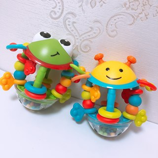 Rattle toy baby children 0-1 years old baby can bite soft rubber boys and girls 3-6-12 months 8 puzzle