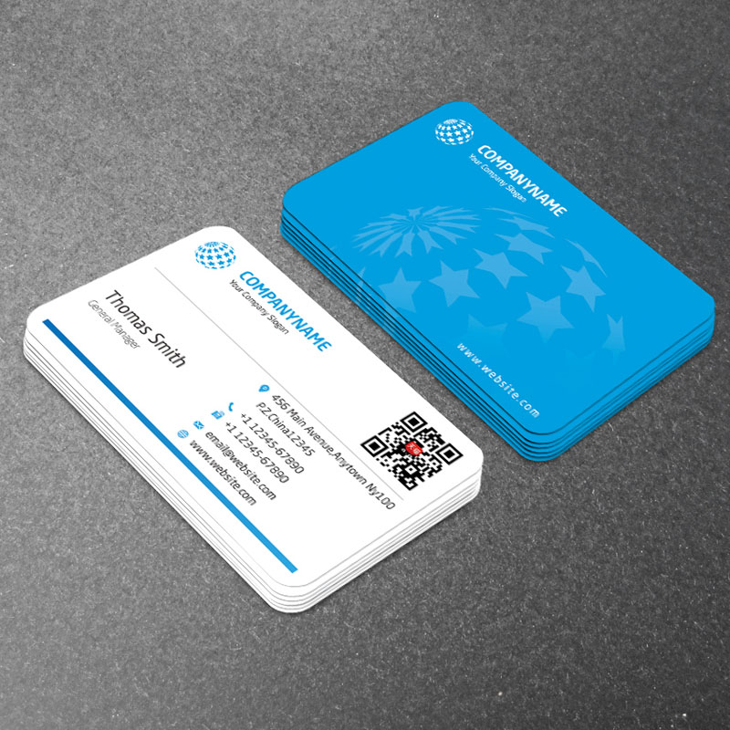 Business card production free design package QR code creative ...