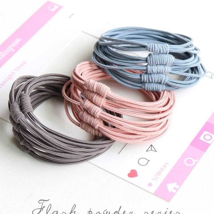 Korean version of the net red high elastic adult head rope female simple hair rubber band hair rope hair ring head rope hair trim.