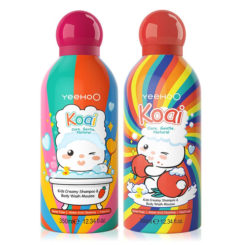 英氏小奶泡儿童沐浴露洗发水二合一宝宝婴儿洗发沐浴露泡泡浴慕斯