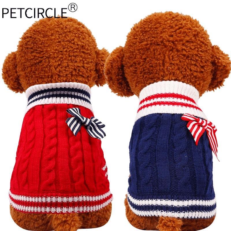。物可爱蓬松款服饰狗狗毛衣编织秋冬季加厚创意个性贵宾泰迪衣服