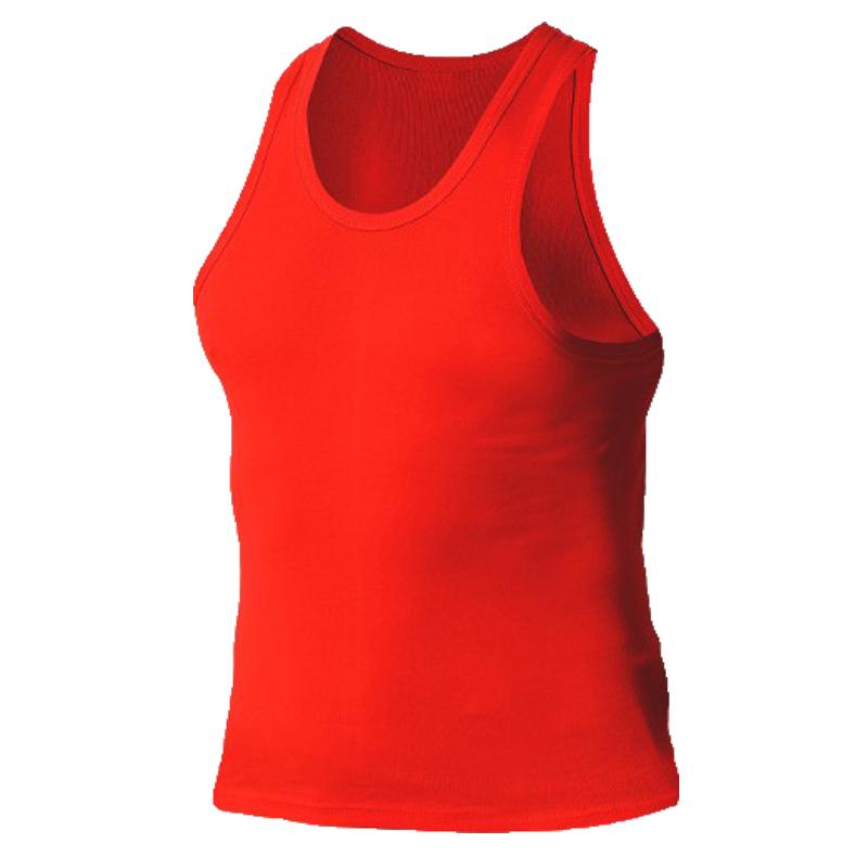 浪莎男士鸿运本命年喜庆结婚大红色纯棉打底汗衫男士纯棉背心薄款