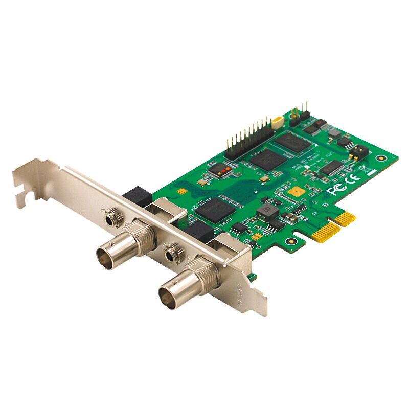 天创恒达TC542N1-L电脑采集卡SDI直播SDI环出PCI-E医疗高清影像录制视频会议输入音视频采集卡