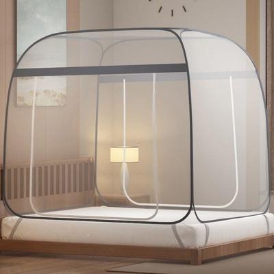 蒙古包蚊帐加密大空间全底全围1.5m1.8m双人学生宿舍免安装可折叠
