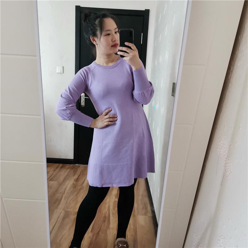 秋冬新款宽松慵懒风连衣裙 做高品质女生