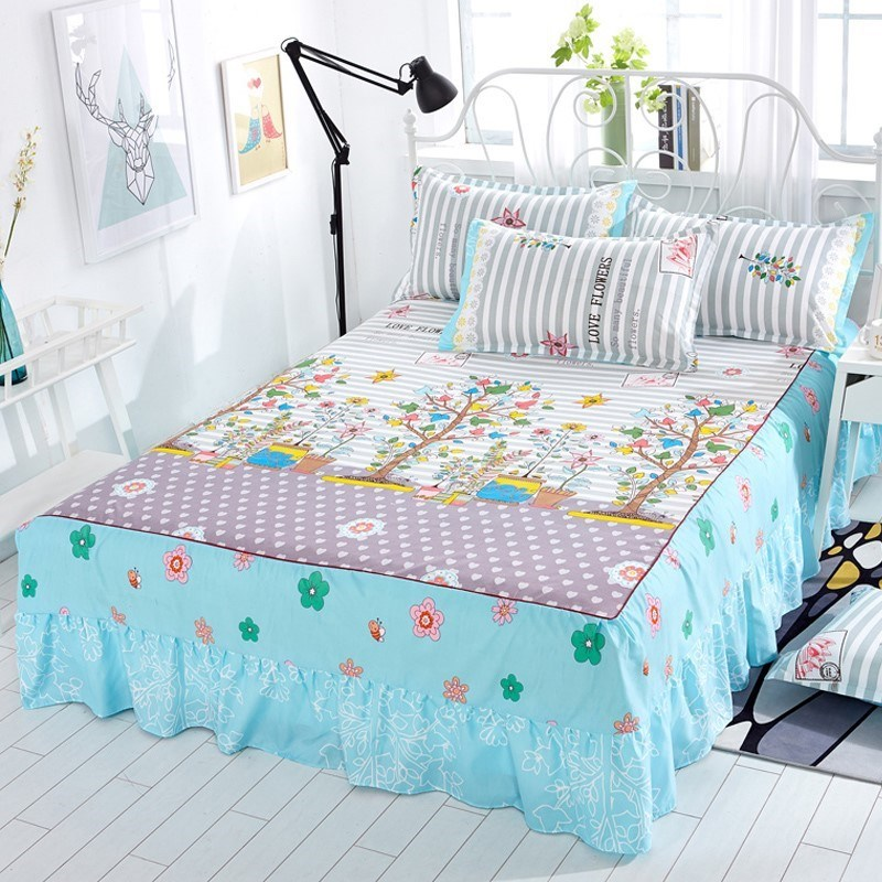 Onem8516x21x24 bedspread bed cover skirt single bed 20m x 22m bed cover European warm-up bed