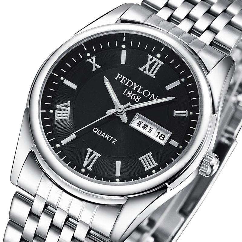 男士防水钢带手表潮流男士手表