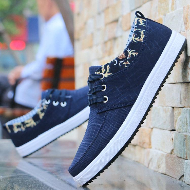 Cotton shoes for men in autumn and winter warm canvas shoes for leisure mens shoes for students