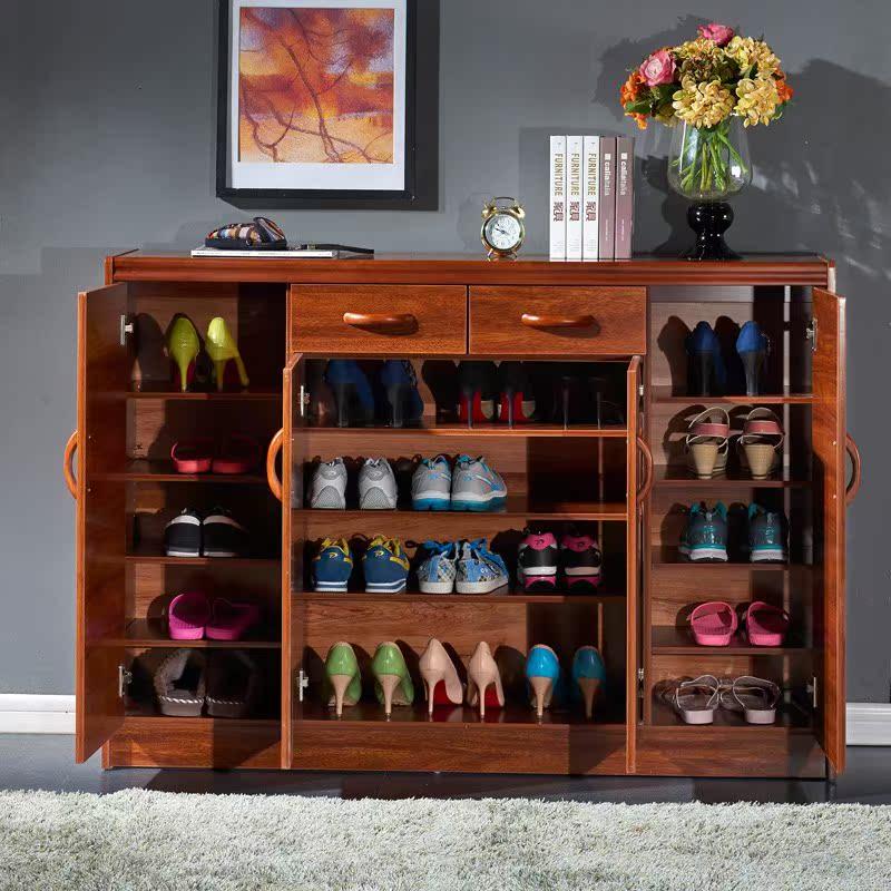 鞋柜色简约中式现代实木客厅阳台柜玄关门厅隔断大容量多功能柜