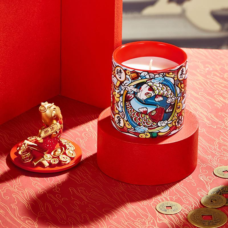 共禾京品 国风系列 香薰蜡烛带盖陶瓷罐礼盒 天猫优惠券折后¥69包邮(¥109-40)