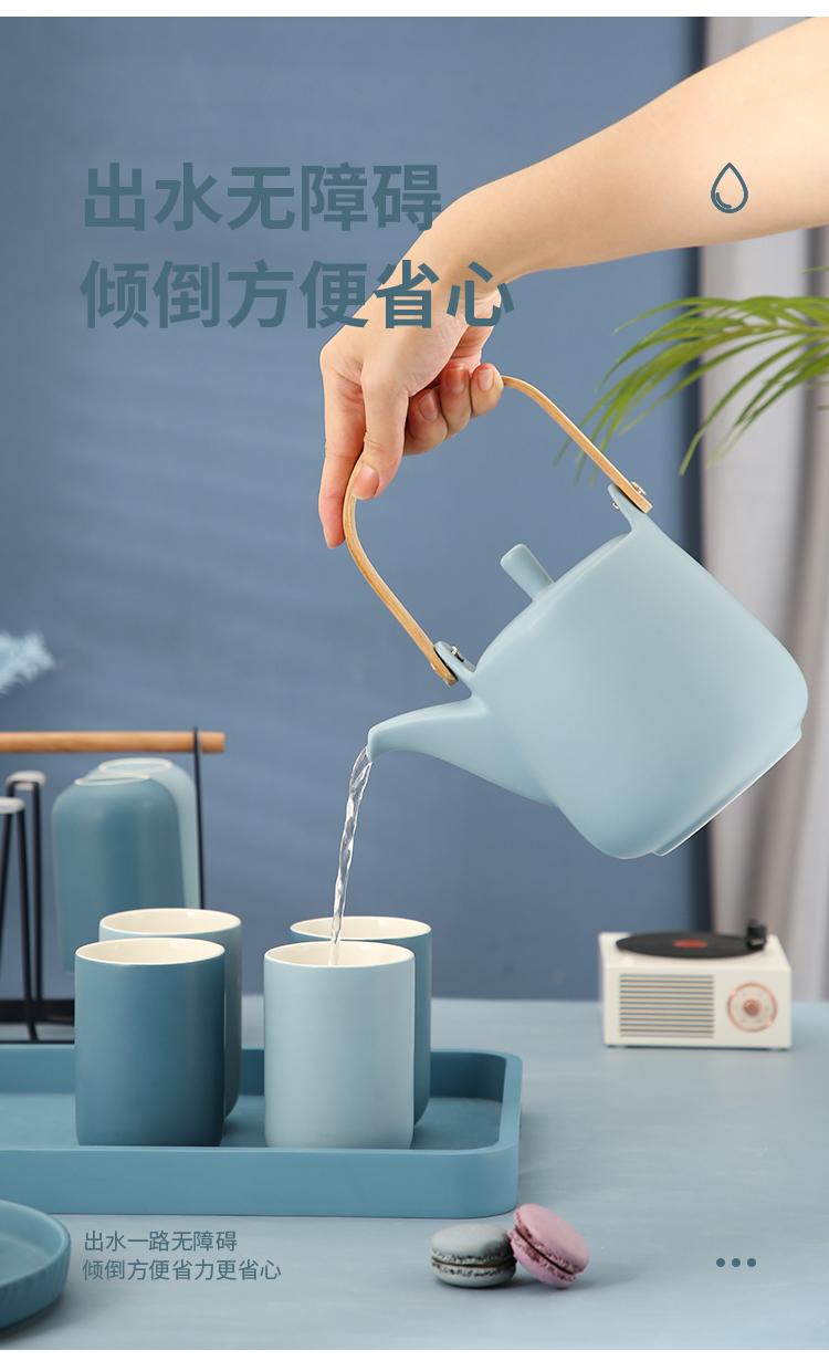 无泥 简约北欧风 莫兰迪色系陶瓷杯 水杯 310ml*6只 天猫优惠券折后¥24.9包邮(¥34.9-10)2色可选