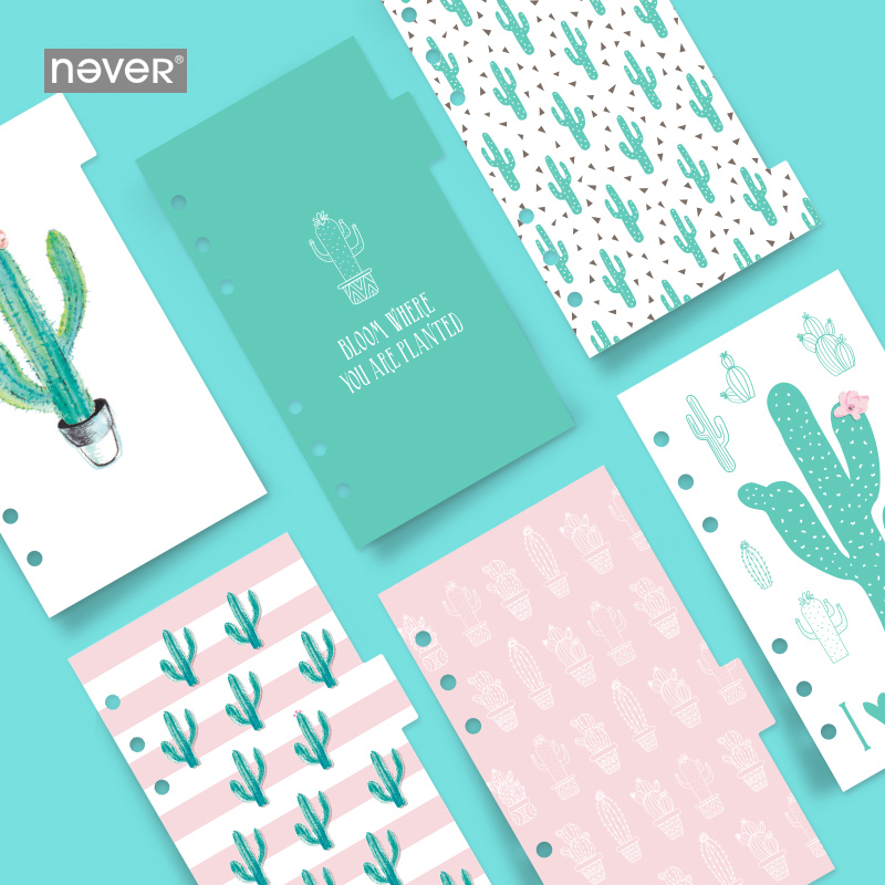 CACTUS A6 LOOSE-LEAF PAGE 6 SHEETS / SET