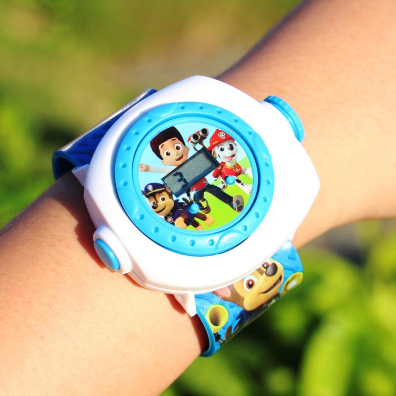 Dây đeo cổ tay 3-5 tuổi 6-8 tuổi đa năng cậu bé đội trưởng Wang Wang bảo vệ môi trường đồng hồ đồ chơi trẻ em - Đồ chơi giáo dục sớm / robot
