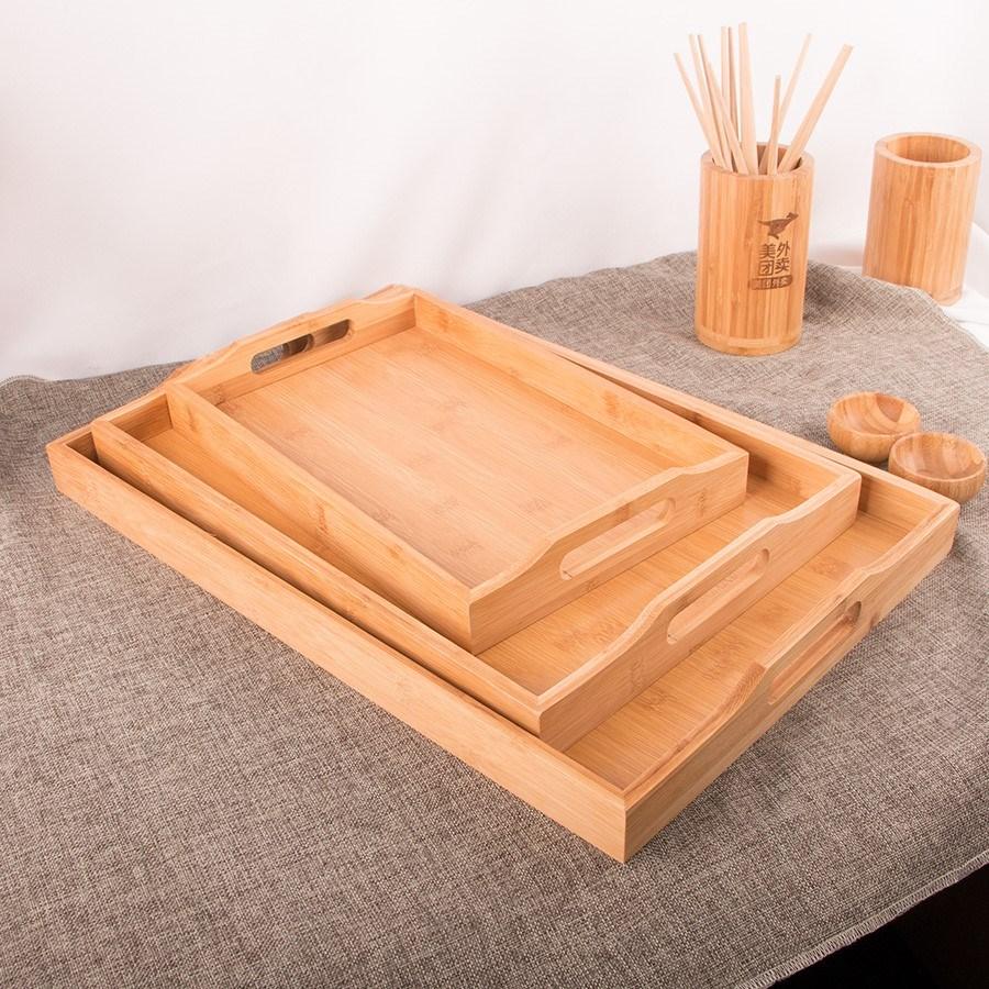 Khách sạn khay gỗ khay gỗ rắn khay gỗ hình chữ nhật khay tre khay khay trà khay khay ăn tối khay nướng - Tấm