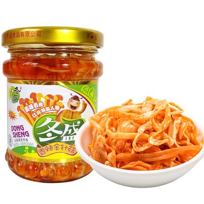 冬盛香辣金针菇155g*3瓶装零食拌饭拌面开胃下饭菜金针菇佐餐小菜